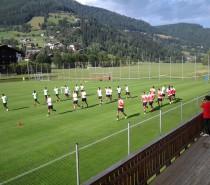Il Palermo è arrivato a Bad Kleinkirchheim, giocatori subito impegnati in allenamento
