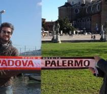 Gemellaggio tifoserie Palermo e Padova. Bravi e grazie !