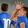 Gallo BELOTTI salva l'Italia. 3-2 sulla Serbia. Canta 2 volte !