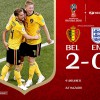 Mondiali di calcio. Belgio-Inghilterra 2-0