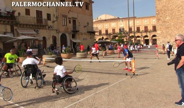 Tennis in piazza a Monreale (VIDEO) Seconda parte